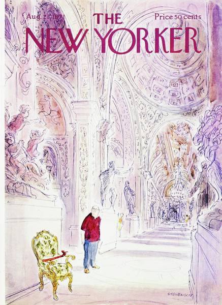 Official Residence Painting - New Yorker August 21st 1971 by James Stevenson