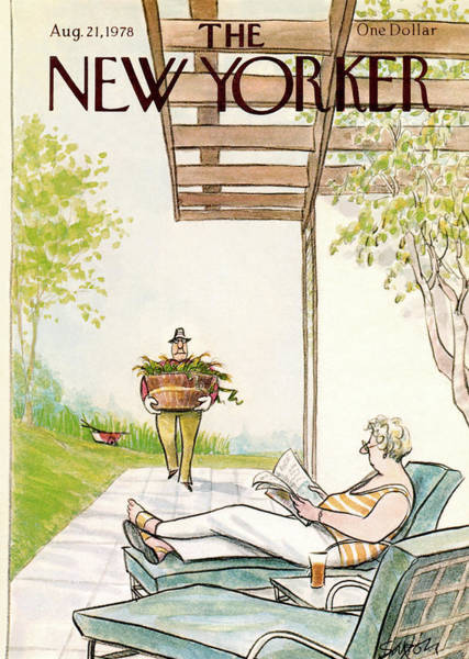 Magazine Painting - New Yorker August 21st, 1978 by Charles Saxon