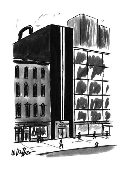 Briefcase Drawing - New Yorker August 21st, 1995 by Warren Miller