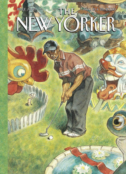 Golf Painting - New Yorker August 21st, 2000 by Peter de Seve