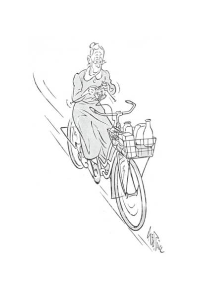 Bike Drawing - New Yorker August 22nd, 1942 by George Price