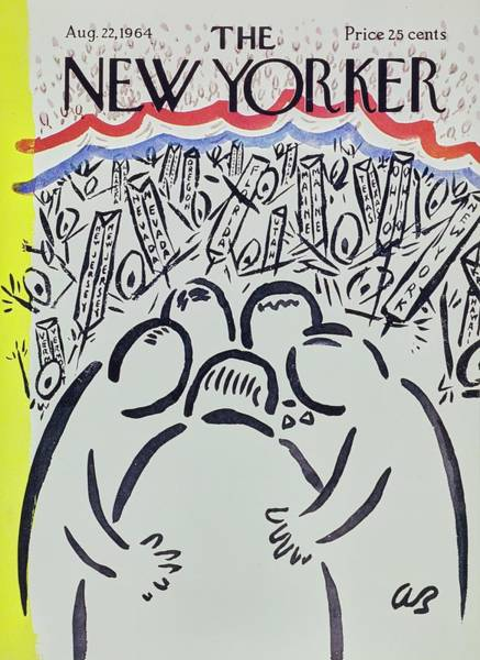 Wall Art - Painting - New Yorker August 22nd 1964 by Aaron Birnbaum