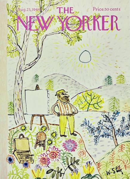 Headgear Painting - New Yorker August 23rd 1969 by William Steig