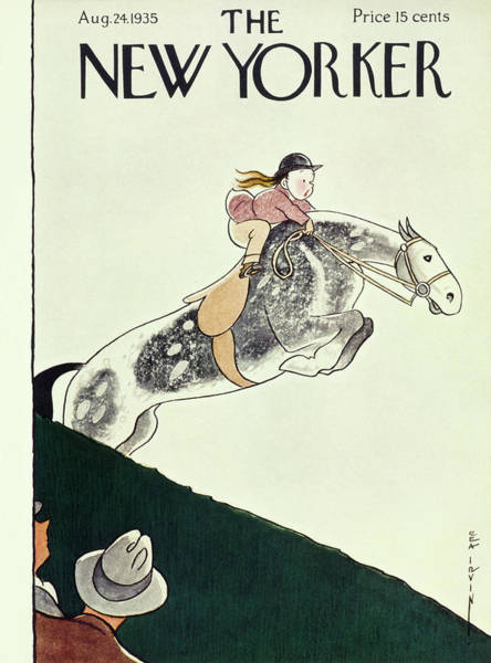 Nobody Painting - New Yorker August 24 1935 by Rea Irvin