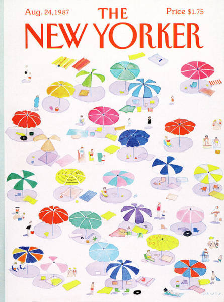 Beach Painting - New Yorker August 24th, 1987 by Susan Davis