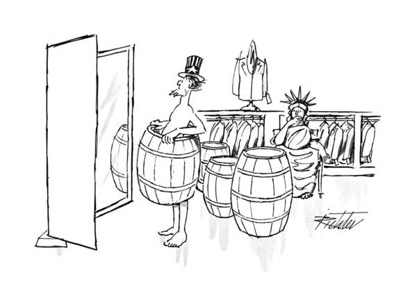 Barrels Drawing - New Yorker August 24th, 1992 by Mischa Richter