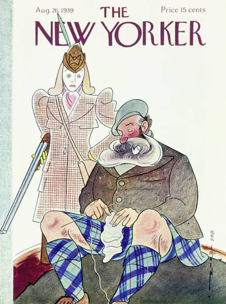 Nobody Painting - New Yorker August 26 1939 by Rea Irvin