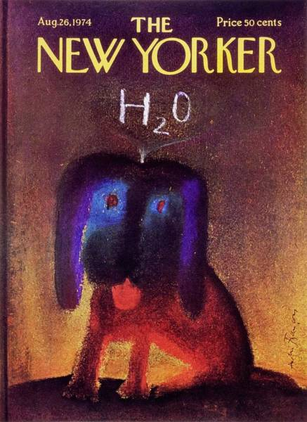 1970s Painting - New Yorker August 26th 1974 by Andre Francois