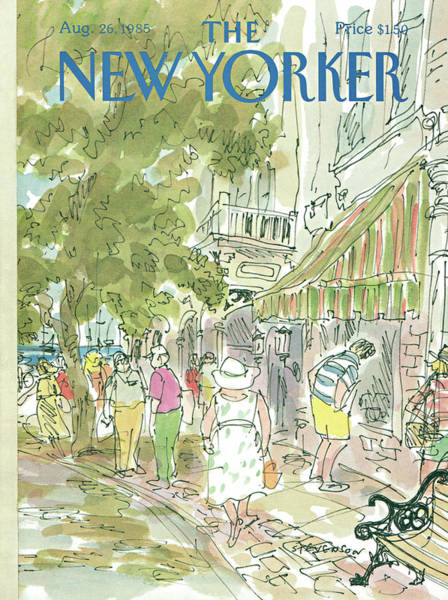 Suburban Painting - New Yorker August 26th, 1985 by James Stevenson