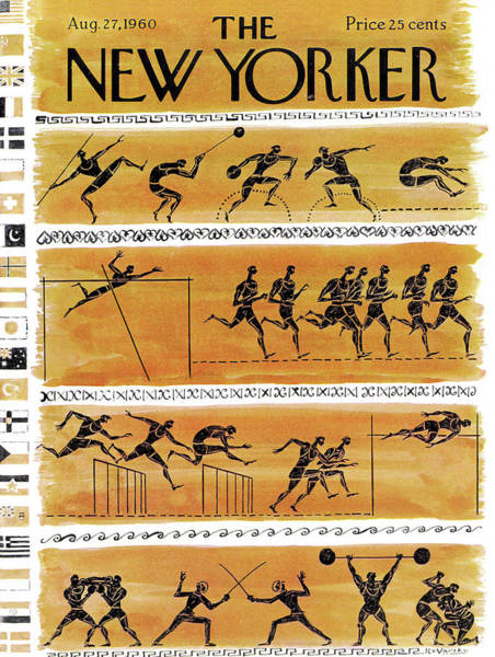 Boxing Painting - New Yorker August 27th, 1960 by Anatol Kovarsky