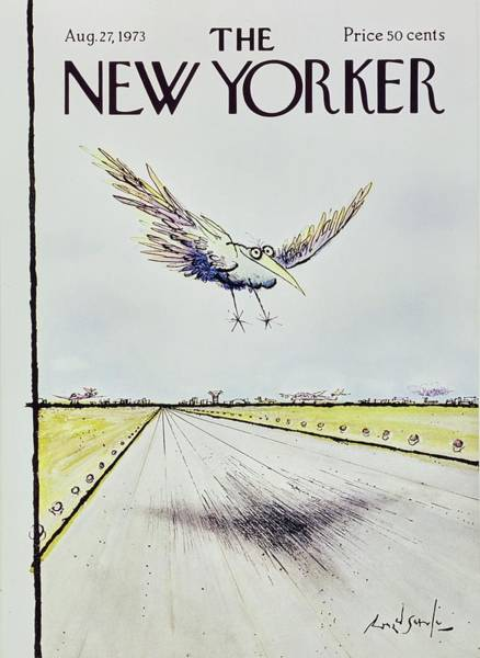 Spread Painting - New Yorker August 27th 1973 by Ronald Searle