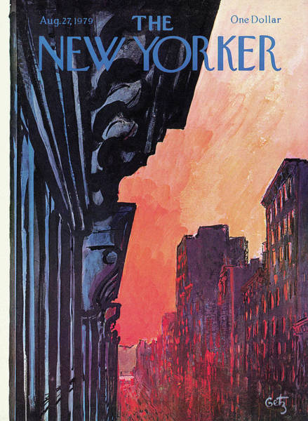 Architecture Painting - New Yorker August 27th, 1979 by Arthur Getz