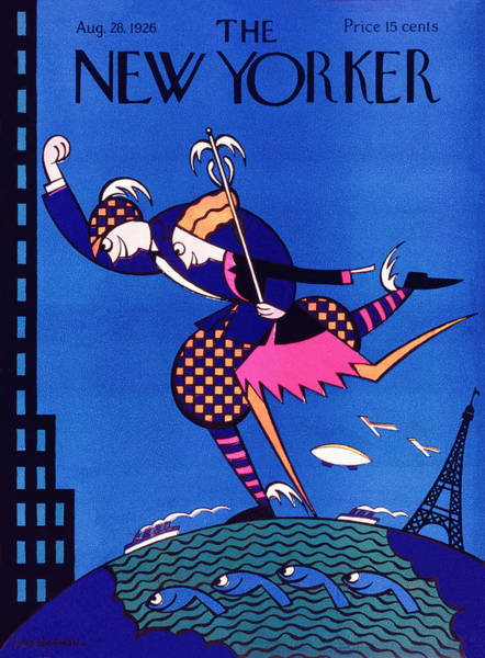 City Life Painting - New Yorker August 28 1926 by H. O. Hofman