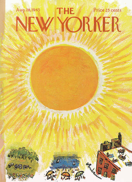Roof Painting - New Yorker August 28th, 1965 by Abe Birnbaum