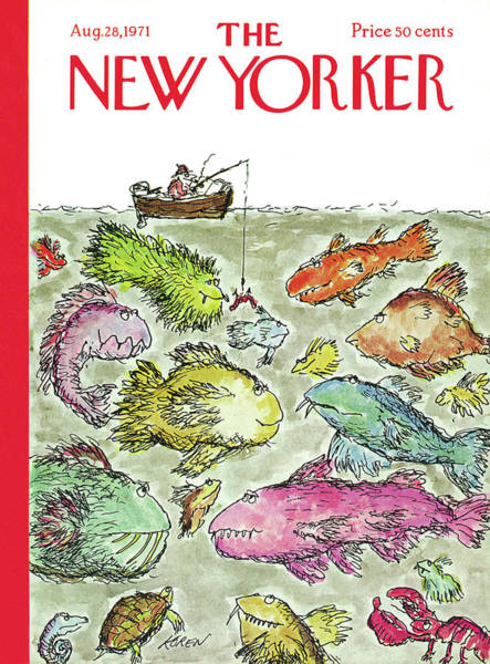 Wall Art - Painting - New Yorker August 28th, 1971 by Edward Koren