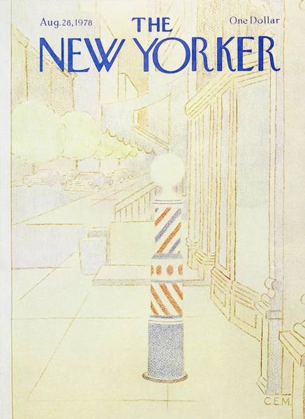 Barbershop Painting - New Yorker August 28th 1978 by Charles Martin