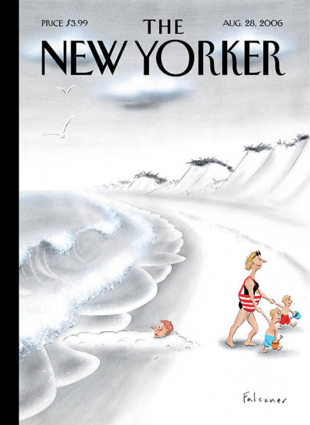 Summer Vacation Painting - New Yorker August 28th, 2006 by Ian Falconer