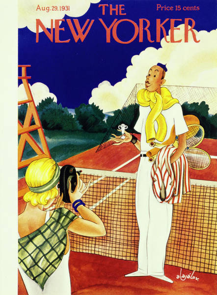 Nobody Painting - New Yorker August 29 1931 by Constantin Alajalov