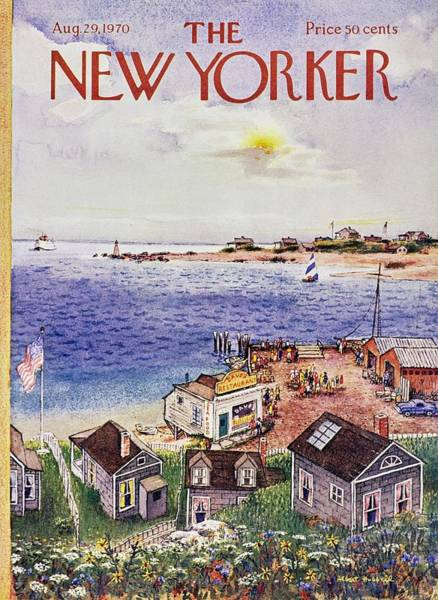 American Culture Painting - New Yorker August 29th 1970 by Albert Hubbell