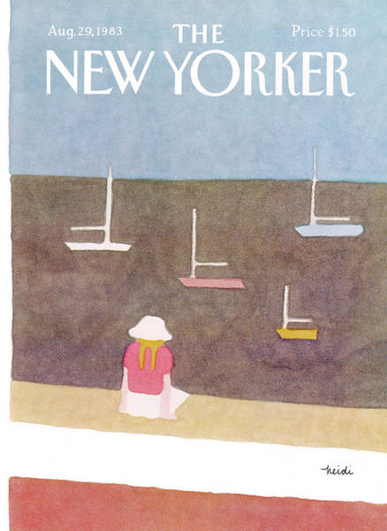 Summer Vacation Painting - New Yorker August 29th, 1983 by Heidi Goennel