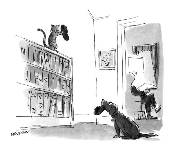 Cats Drawing - New Yorker August 29th, 1988 by James Stevenson