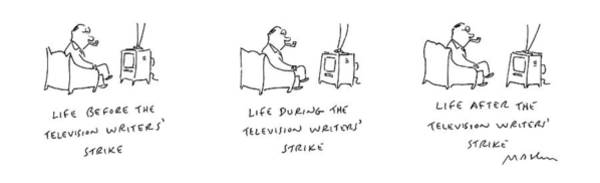 Same Drawing - New Yorker August 29th, 1988 by Michael Maslin