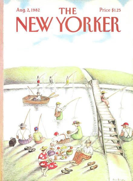2 Painting - New Yorker August 2nd, 1982 by Anne Burgess