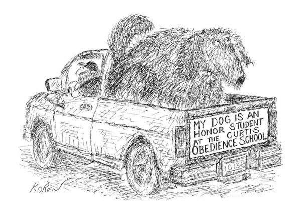 Automobile Drawing - New Yorker August 2nd, 1999 by Edward Koren