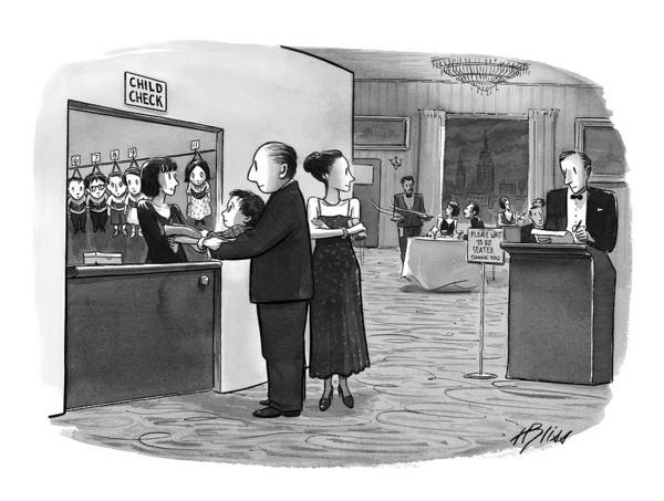 Hook Drawing - New Yorker August 2nd, 1999 by Harry Bliss