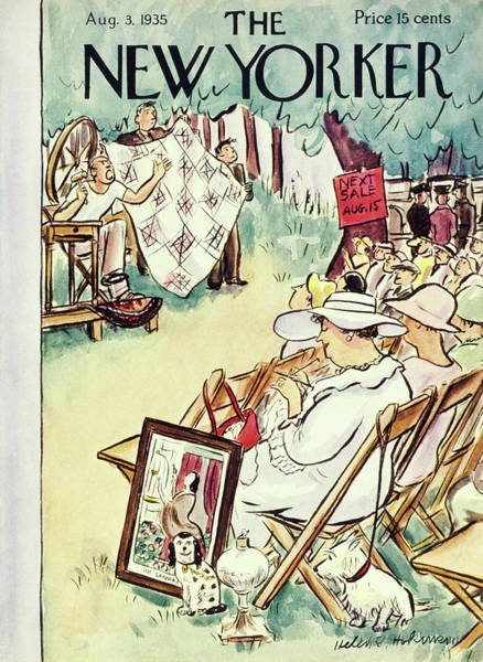 Audience Painting - New Yorker August 3 1935 by Helene E. Hokinson