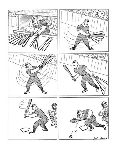 Baseball Player Wall Art - Drawing - New Yorker August 30th, 1941 by John Groth