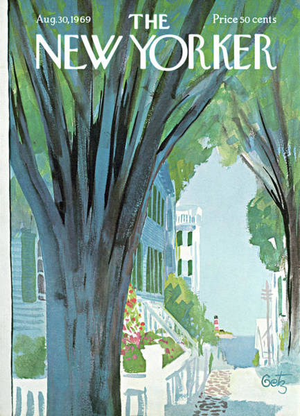 Suburban Painting - New Yorker August 30th, 1969 by Arthur Getz