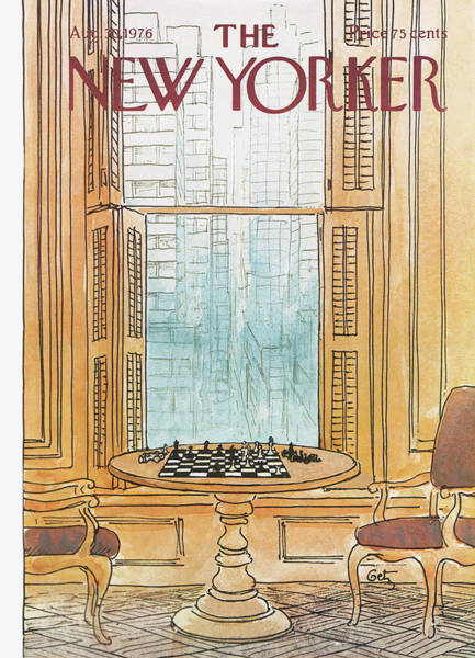 Table Painting - New Yorker August 30th, 1976 by Arthur Getz