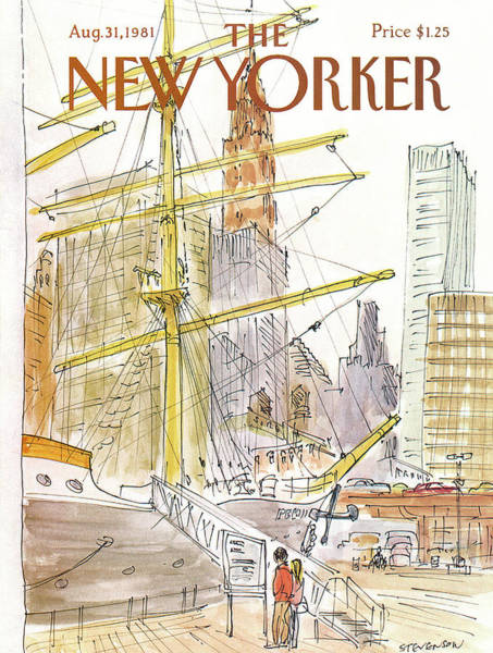 City Painting - New Yorker August 31st, 1981 by James Stevenson