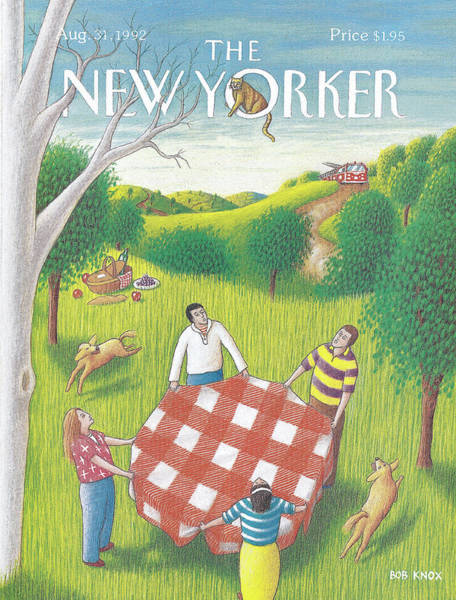 Summer Vacation Painting - New Yorker August 31st, 1992 by Bob Knox