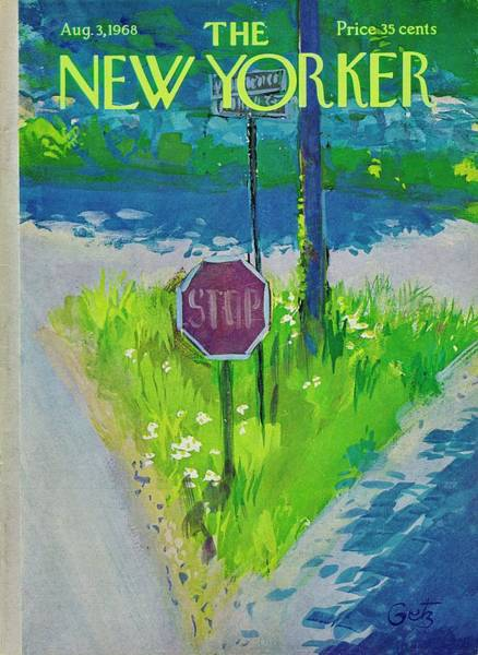 Shaded Painting - New Yorker August 3rd 1968 by Arthur Getz