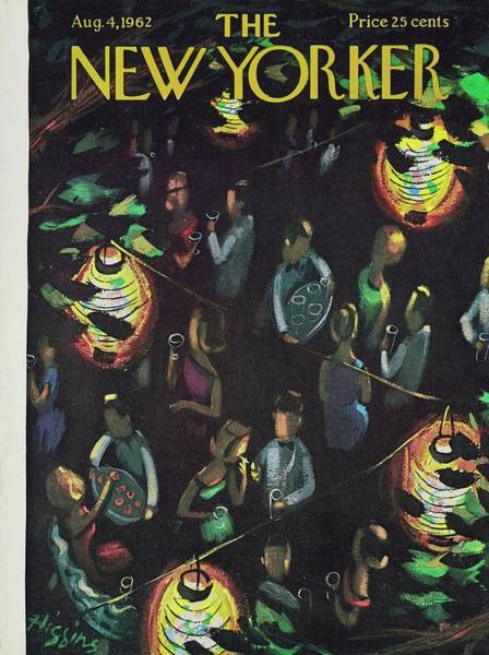 Formal Wear Painting - New Yorker August 4th 1962 by Donald Higgins