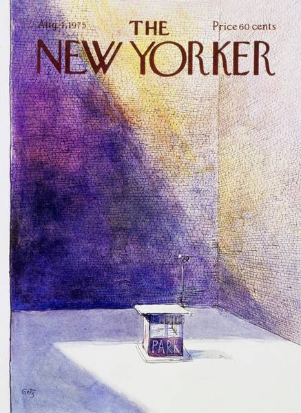 4 Painting - New Yorker August 4th 1975 by Arthur Getz
