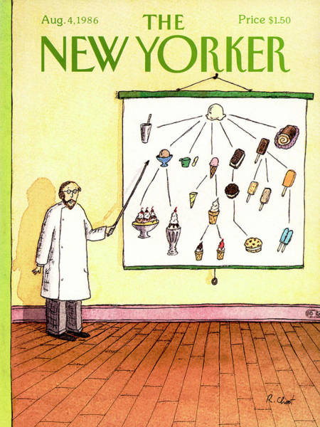 4 Painting - New Yorker August 4th, 1986 by Roz Chast