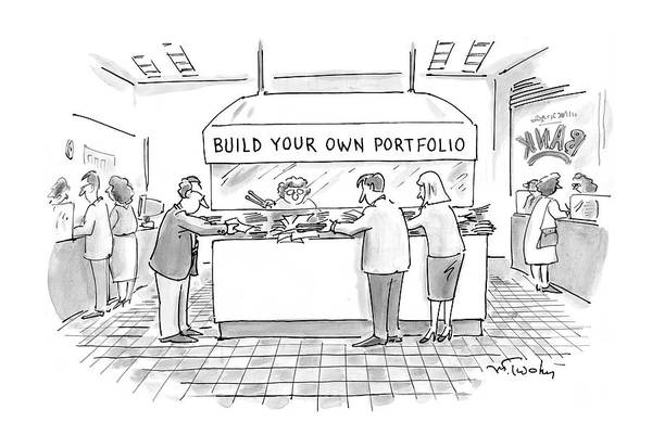 Paper Money Drawing - New Yorker August 4th, 1997 by Mike Twohy