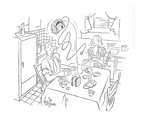 August 5th Drawing - New Yorker August 5th, 1939 by George Price