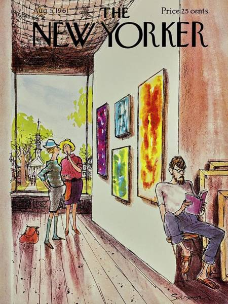 Book Illustration Painting - New Yorker August 5th 1961 by Charles D Saxon