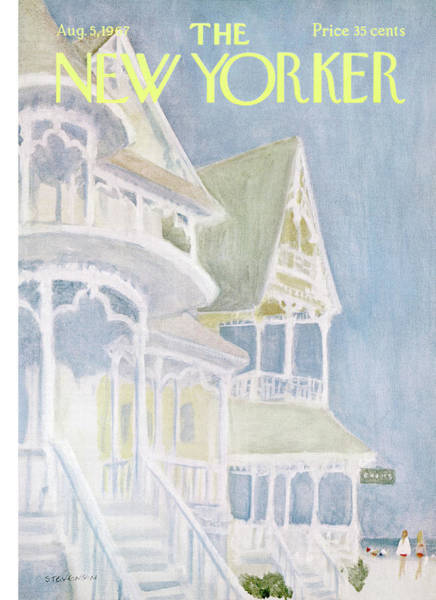 Summer Vacation Painting - New Yorker August 5th, 1967 by James Stevenson