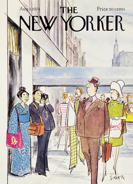 Travel Painting - New Yorker August 5th, 1974 by Charles Saxon