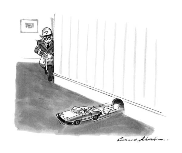 August 5th Drawing - New Yorker August 5th, 1991 by Bernard Schoenbaum