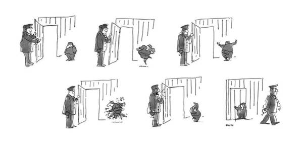 Drawing - New Yorker August 6th, 1979 by George Booth
