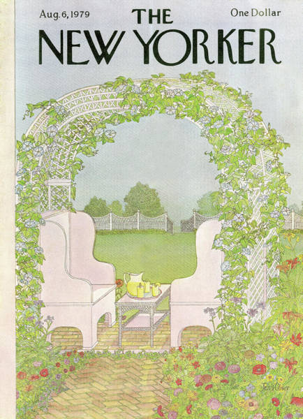 Table Painting - New Yorker August 6th, 1979 by Jenni Oliver