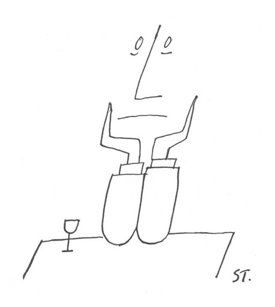 Dine Drawing - New Yorker August 7th, 1954 by Saul Steinberg