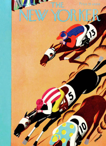 Race Painting - New Yorker August 8th, 1931 by Theodore G. Haupt