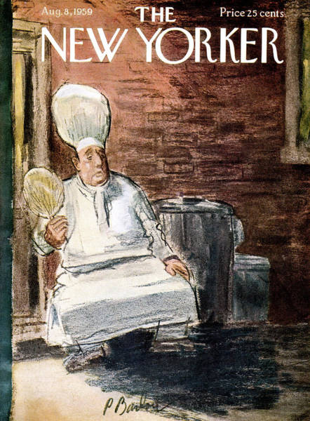 Table Painting - New Yorker August 8th, 1959 by Perry Barlow